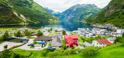 Geiranger is a small tourist village in Sunnmore region of Norway. Geiranger lies at the Geirangerfjord.